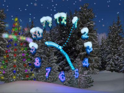 Capture d'écran 3D Christmas Clock Screensaver