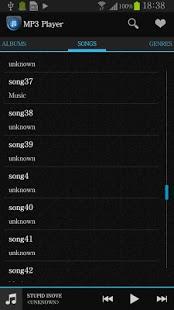 Capture d'écran Musique