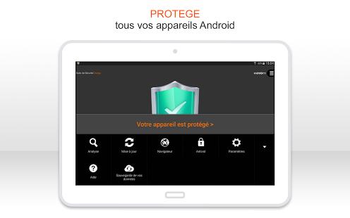 Capture d'écran Antivirus | Sécurité Orange