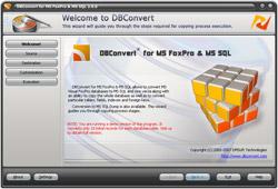 Capture d'écran DBConvert for MS FoxPro & MS SQL