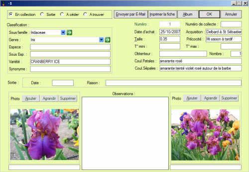 Capture d'écran LS Iris