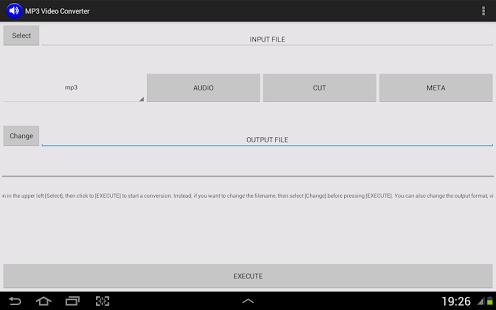 Capture d'écran MP3 convertisseur vidéo