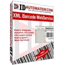 Capture d'écran IDAutomation XML Barcode Webservice