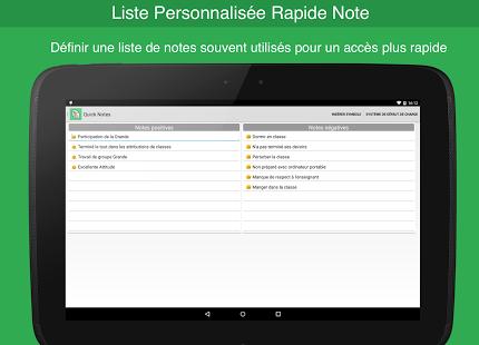 Capture d'écran Notes de l'enseignant -gratuit