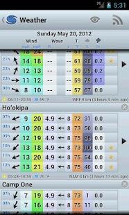 Capture d'écran WindGURU11 (sans pub.)
