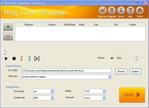 Capture d'écran Boilsoft RingTone Converter