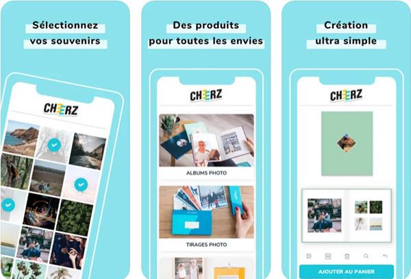 Capture d'écran CHEERZ iOS