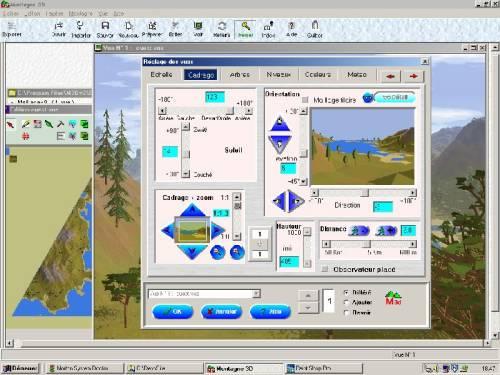 Capture d'écran Montagne 3D