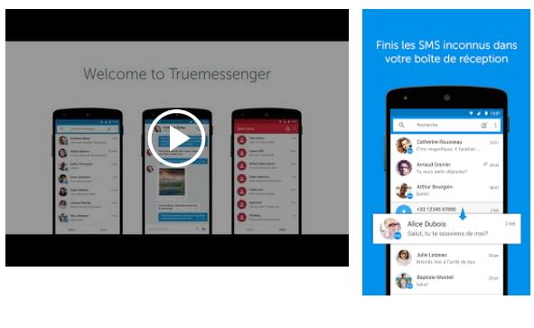 Capture d'écran Truemessenger Android