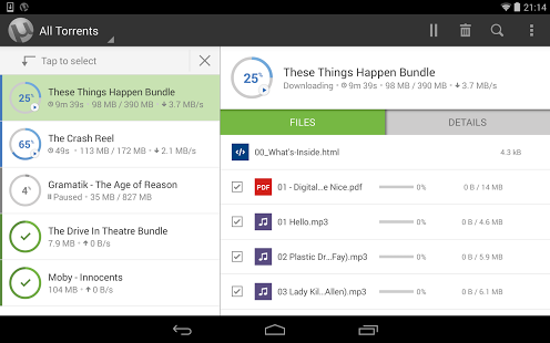 Capture d'écran µTorrent® Pro – Torrent App