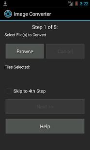 Capture d'écran Convertisseur d'image