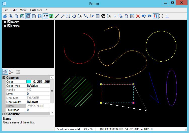Capture d'écran 2D / 3D CAD Import .NET: DWG, DXF, PLT