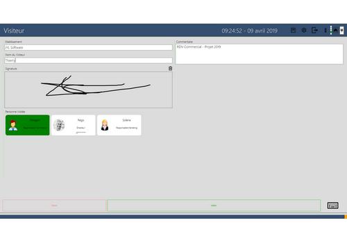 Capture d'écran JYL Visiteur