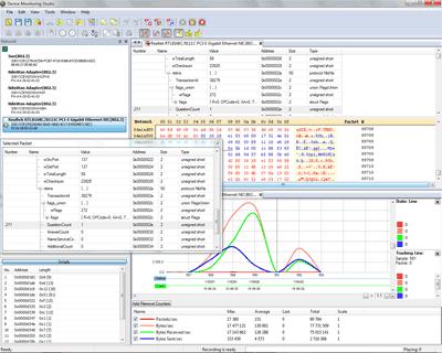 Capture d'écran Network Monitor