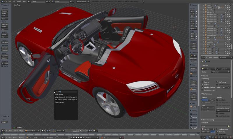 Capture d'écran Blender Mac