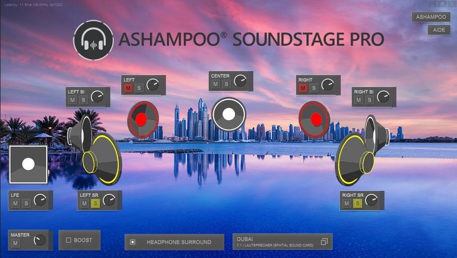 Capture d'écran Ashampoo Soundstage Pro