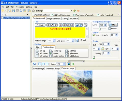 Capture d'écran AiS Watermark Pictures Protector