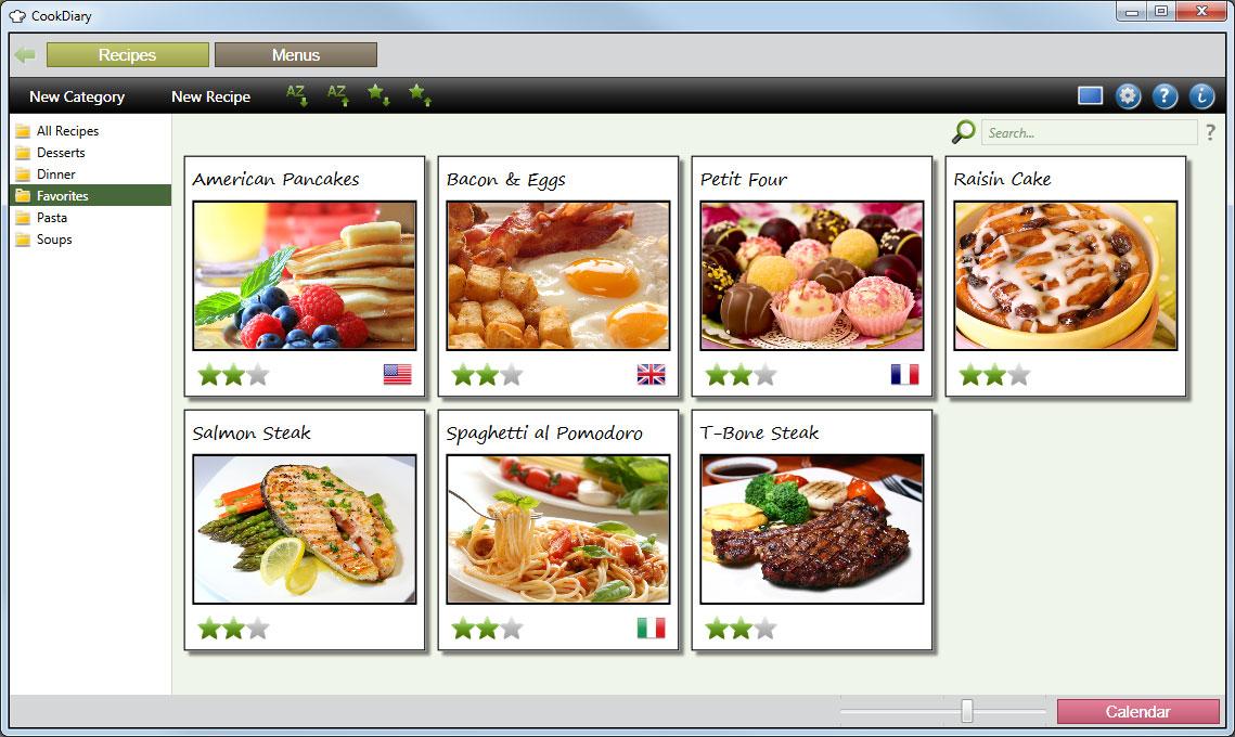 Capture d'écran CookDiary