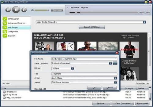 Capture d'écran MP3 Free Downloader