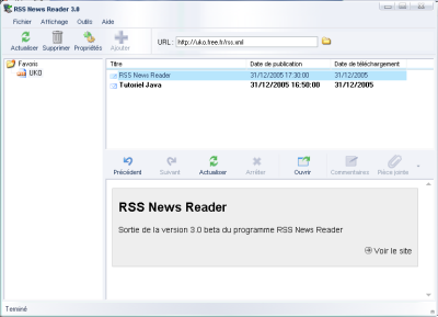 Capture d'écran RSS News Reader