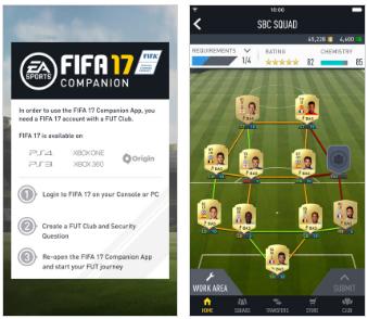 Capture d'écran FIFA 17 Companion Windows Phone