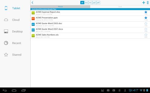 Capture d'écran Docs To Go Premium Key