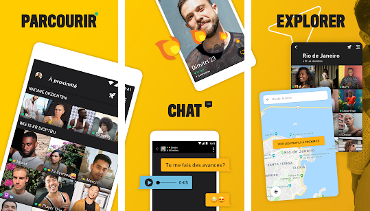 Capture d'écran Grindr Android