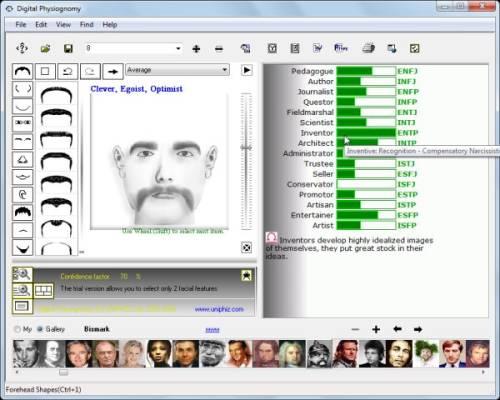 Capture d'écran Digital Physiognomy