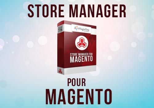 Capture d'écran Store Manager pour Magento