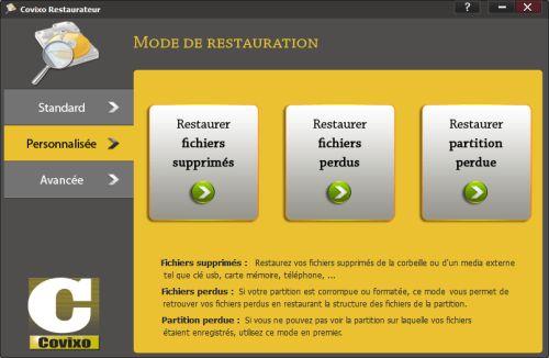 Capture d'écran Covixo Restaurateur