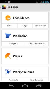 Capture d'écran Tiempo METEO