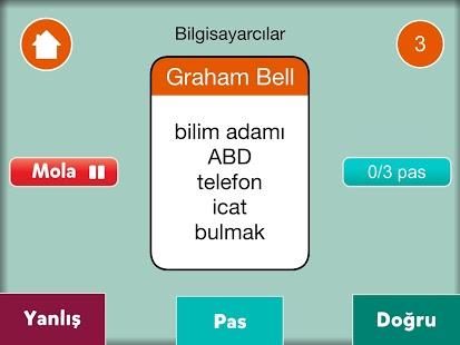 Capture d'écran Tabu Kelime Oyunu
