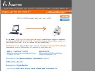 Capture d'écran Fax Internet