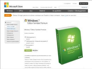 Capture d'écran Windows 7 Édition Familiale Premium