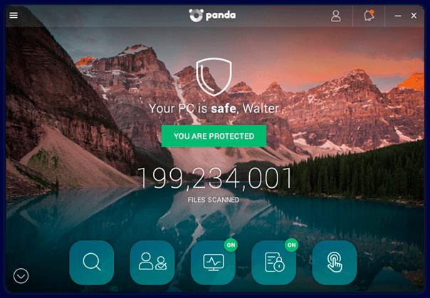 Capture d'écran Panda Free Antivirus