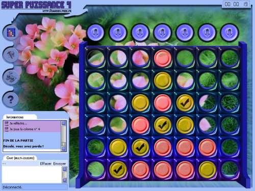 Capture d'écran SUPER PUISSANCE 4