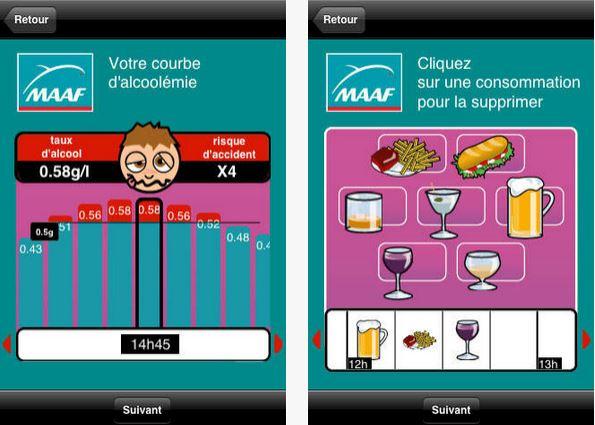 Capture d'écran AlcooTel iOS