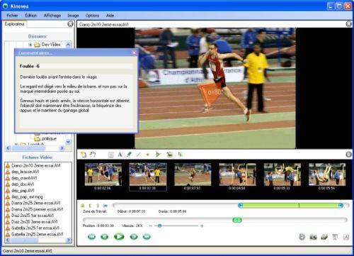 Capture d'écran Kinovea