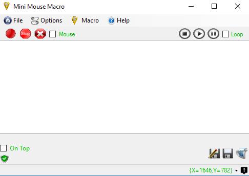 Capture d'écran Mini Mouse Macro