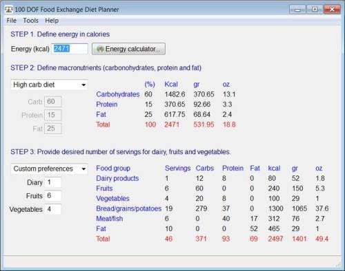 Capture d'écran Food Exchange Diet Planner