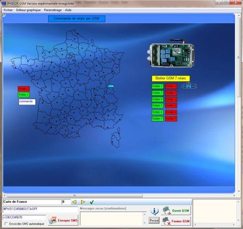 Capture d'écran IPVISOR GSM