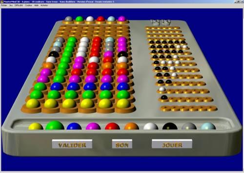 Capture d'écran MasterMind 3D