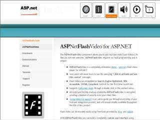Capture d'écran ASP.Net Flash Video