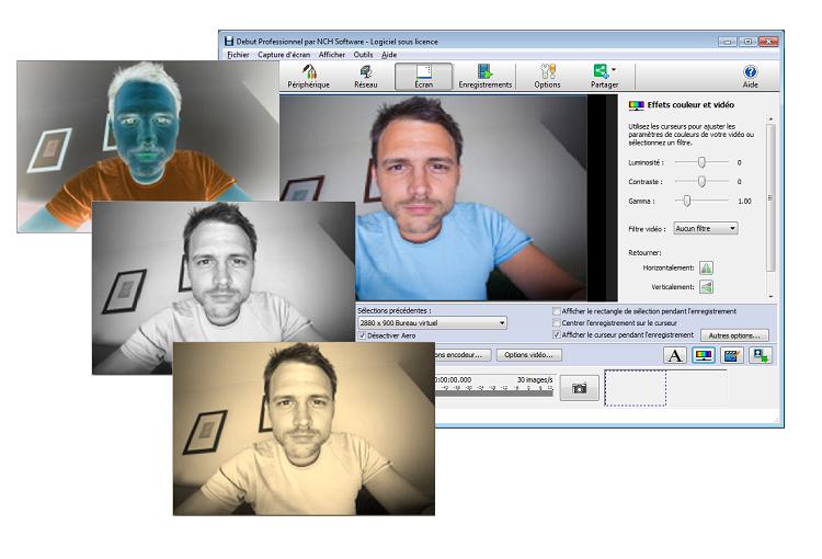 Capture d'écran Debut – Logiciel de capture vidéo
