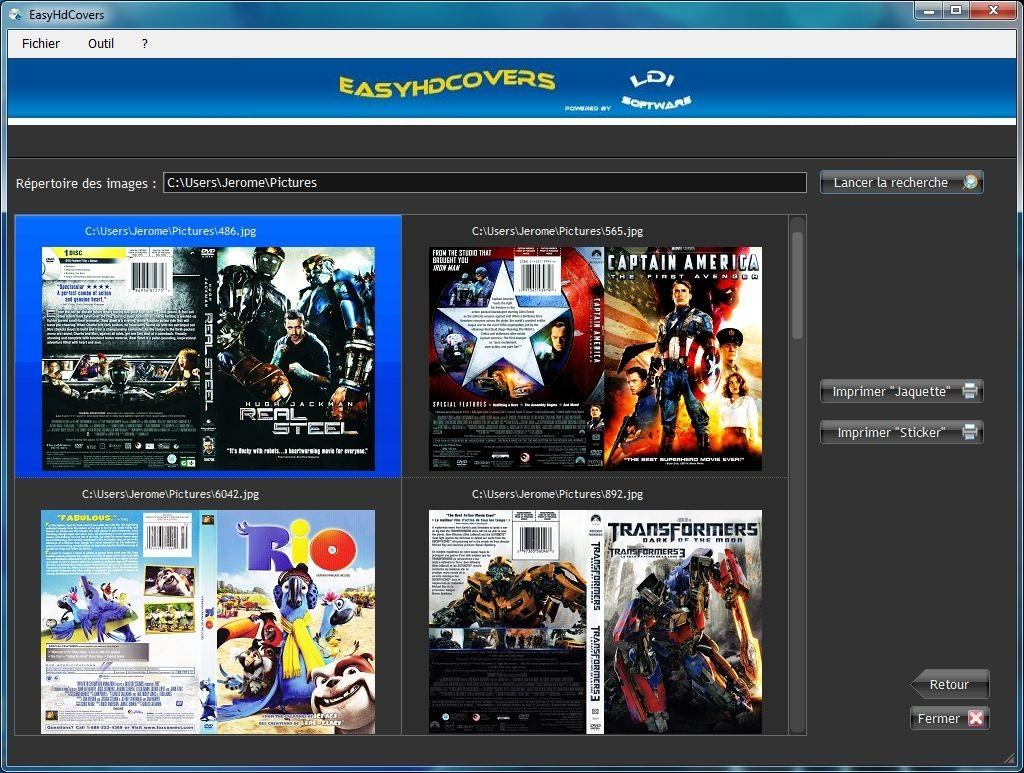 Capture d'écran EasyHdCovers
