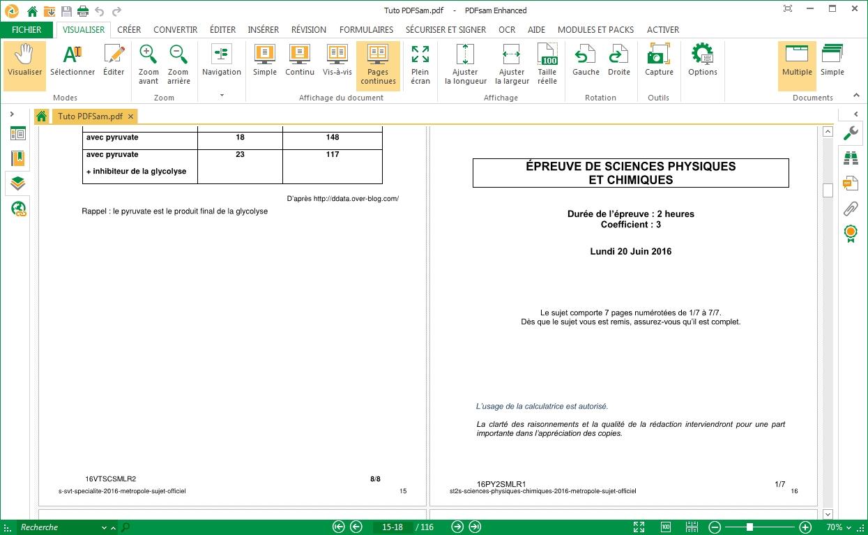 Capture d'écran PDFSaM Linux