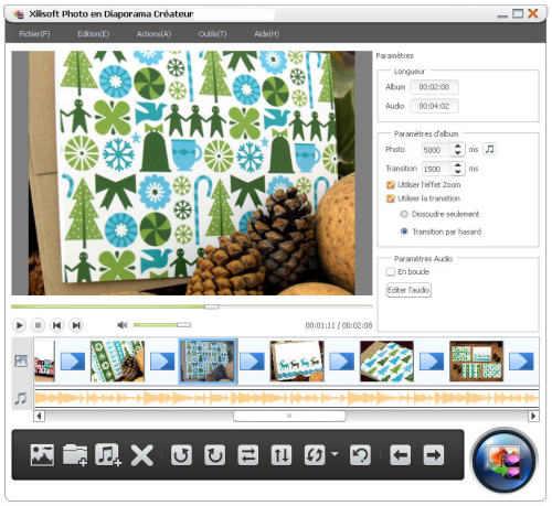Capture d'écran Xilisoft Photo en Diaporama Créateur