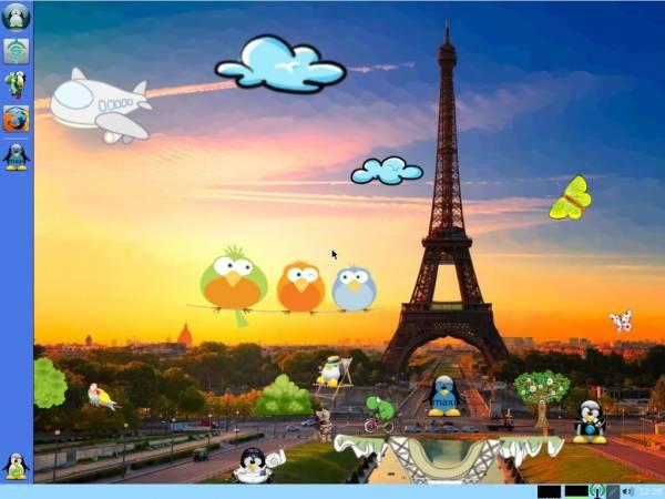 Capture d'écran PrimTux Eiffel