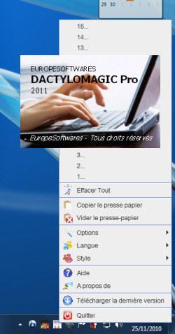 Capture d'écran DactyloMagicPro Linux
