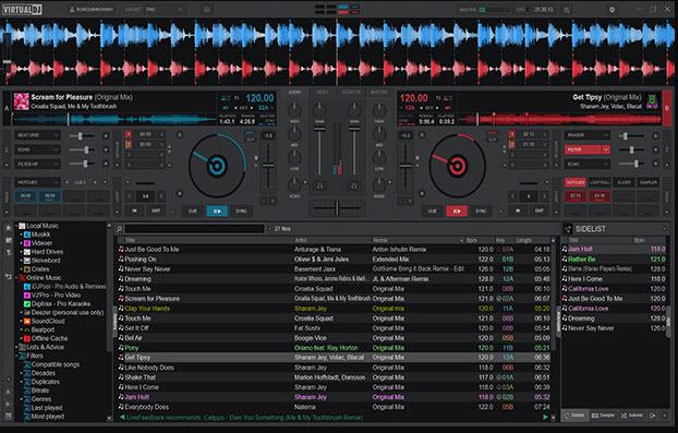 Capture d'écran Virtual DJ 2021